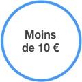Moins de 10 €